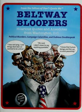Cover of: Beltway bloopers |