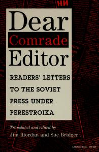 Dear Comrade Editor by Jim Roirdan