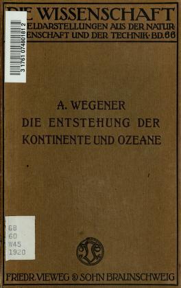 Cover of: Die Entstehung der Kontinente und Ozeane by Alfred Wegener