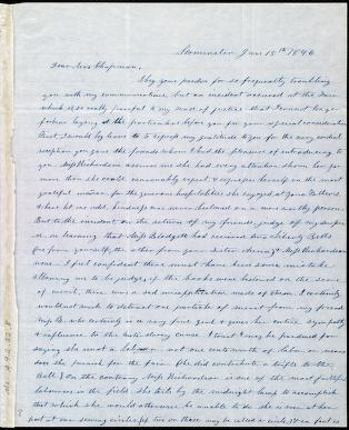 [Letter to] Dear Mrs. Chapman by Frances H. Drake